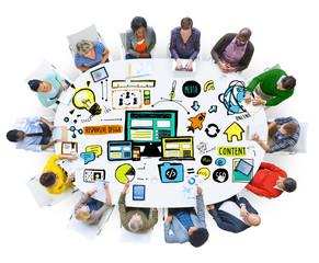 Diversity People Responsive Design Content Brainstorming Concept