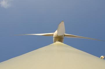 Rotor des Windrades von unten