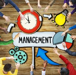 Aerial View People Time Management Teamwork Ideas Concept