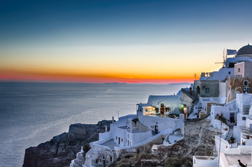 Twilight hour over Santorini