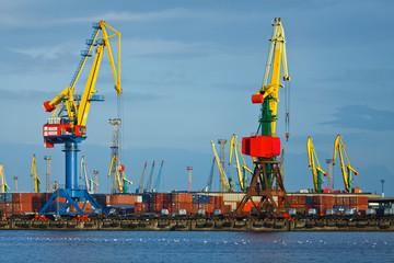 Commercial port in Kaliningrad
