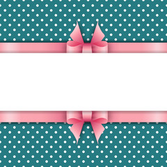 Cute background with pink bows