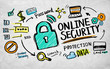 Zdjęcia na płótnie, fototapety, obrazy : Online Security Protection Internet Guard Lock Concept