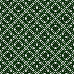 Green and White Interlocking Circles Tiles Pattern Repeat Backgr