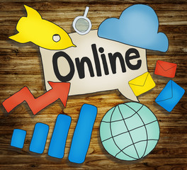 Online E-business Network Global Communication Concept