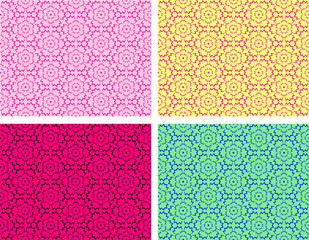 Seamless pattern with flowers.Vector illustration
