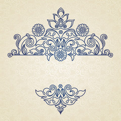 Vector vintage pattern in Eastern style.