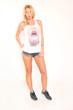 canvas print picture - Frau in Designershirt