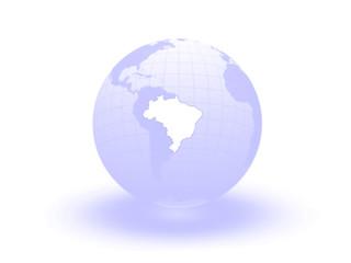 Globe. 3d. Brazil.
