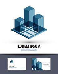 construction. logo, icon, sign, emblem, template