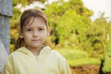 Outdoor portrait of little girl