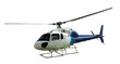 White helicopter with working propeller - 75800945