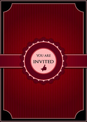 Red  abstract invitation
