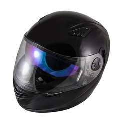 High quality Black motorcycle helmet over white background