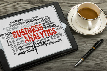 business analytics word cloud