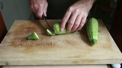 cutting marrow on wood table