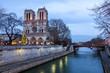 Leinwanddruck Bild - Notre Dame de Paris at dusk, France.