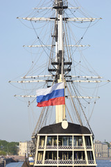 Old frigate in St.Petersburg, Russia.