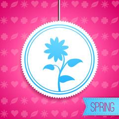 Icon Frühling mit Blume