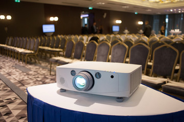projector in seminar room