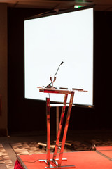 conference presentation table