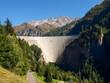 Swiss Alps, dam of lake Luzzone