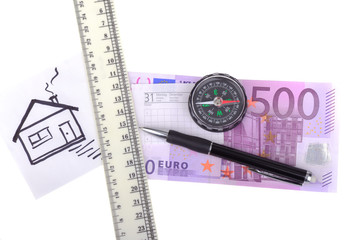 ..money five hundred euros compass