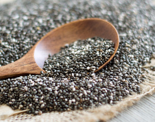 Chia seeds close up