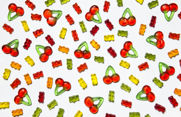 Gummy candy background