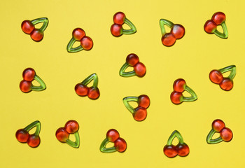 Cherry candy background