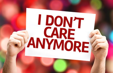 I Dont Care Anymore card with colorful background