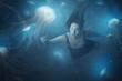 Leinwanddruck Bild - Jelly fish