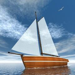 Sailboat - 3D render