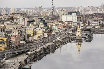 Kiev, the embankment on the Dnieper River