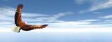 Fototapeta Eagle flying - 3D render