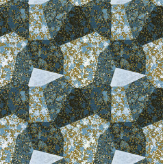 Abstract seamless pattern with blocks of marble