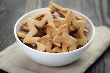 classic star cookies in white bowl