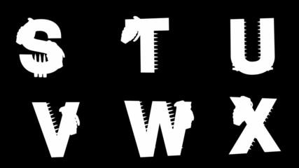 loop alpha matted military alphabet set