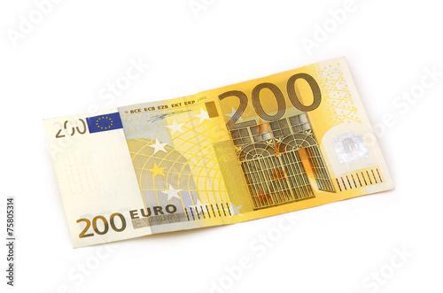 Leinwanddruck Bild 200 Euro Vorderseite