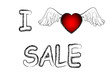 sale store valentines day heart banner vector illustration