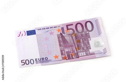 Leinwanddruck Bild 500 Euro Vorderseite