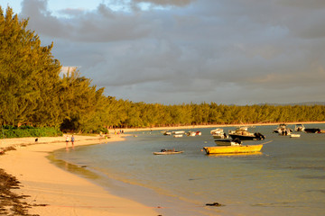Africa,sunset in Mont Choisy in Mauritius