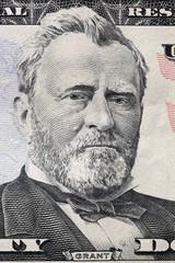 Ulysses S. Grant portrait on a twenty dollar bill.