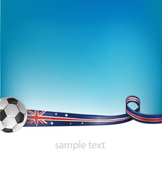 australian flag with soccer ball