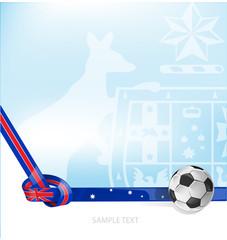 australian flag background soccer ball