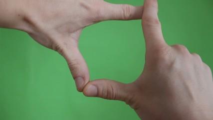 hands gestures green screen