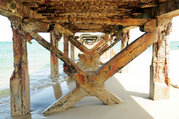 Under the pier in the morning