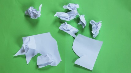 stop motion paper opening green screen
