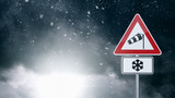 Bad Weather - Caution - Risk of Storm - Warning Sign - 75809117