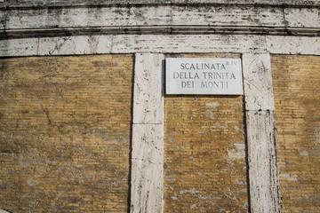 Targa scalinata di Trinità dei Monti - Roma